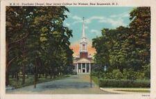 Postcard Voorhees Chapel New Jersey College for Women New Brunswick NJ