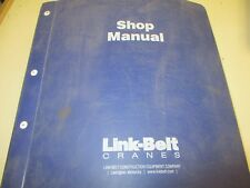 Link Belt RTC-8030 II Repair Shop Manual
