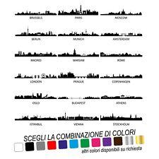 ADESIVI MURALI CAPITALI EUROPA CITTA' ADESIVO WALL STICKER DECORAZIONI SKYLINE