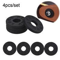 4pcs Black Rubber Guitar Strap Locks- Famous Classic Design & Great Reliability-