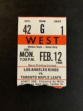 FEB 12 1990 TORONTO MAPLE LEAFS TICKET STUB vs LOS ANGELES KINGS WAYNE GRETZKY