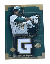 2003 Upper Deck Sweet Spot - Swatches #MT Miguel Tejada Game Used Jersey Oakland