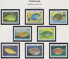 VIETNAM N°373/380** Poissons plats, 1982 Vietnam 1235-1242 Fish Soles MNH