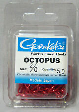Gamakatsu Octopus Red 2/0 Chemically Sharpened Hooks - *Qty 50* Saltwater