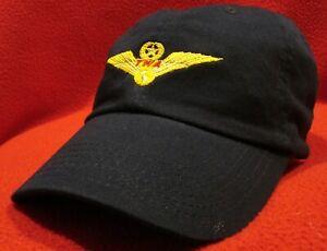 Trans World Airlines Pilot Wings Commemorative ball cap low-profile hat blue
