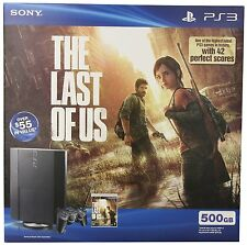 Sony PlayStation PS3 500GB The Last of Us Bundle *NEW*