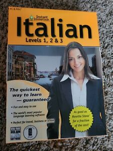 Learn How To Speak Italian With Instant Immersion Levels 1-3 PC/MAC