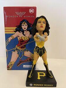 PITTSBURGH PIRATES WONDER WOMAN DC COMICS BOBBLEHEAD SGA 5/1/2021 NEW IN BOX