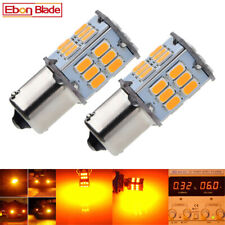 2Pcs 30 LED Yellow/Amber Car Bulb 1156 BA15S Turn Signal Light 6V DC P21W 382