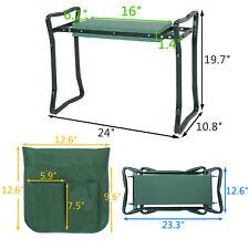 "Foldable Garden Kneeler and Seat W/Bonus 12.6"" Tool Pouch Portable Stool EVA Pad"