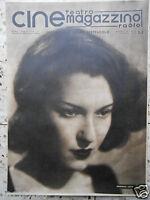 #cine magazzino teatro radio cinema mariella lotti italian magazine# numero raro