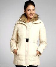 NEW L 12-14 NICOLE MILLER Puffer Down Feather Coat Jacket Faux Fur Parka $300