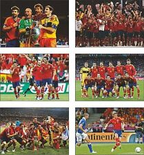 Spain Euro 2012 Winners Champions POSTCARD Set