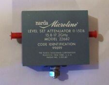 New Old Stock Microline 15.8 to 17.2 GHz 0-15Db Attenuator model 22682