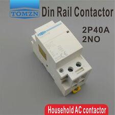 2P 40A 220V/230V 400V~ 50/60HZ Din rail Household ac contactor 2NO