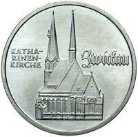 Gedenkmünze DDR - 5 Mark 1989 A - Katharinenkirche - Zwickau - Stempelglanz UNC