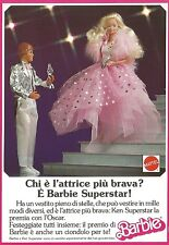 X2312 MATTEL - Barbie Superstar - Pubblicità 1989 - Advertising