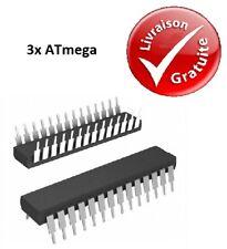 3x Microcontrôleurs Atmel : ATmega - SPDIP / TQFP : NEUF