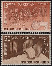 ✔️ PAKISTAN 1963 - FREEDOM FROM HUNGER - SC. 176/177 MNH OG ** [PK.191]