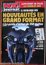Moto Journal 9/10/2008; Spécial Catalogue Nouveauté et guide d'achat 350 motos