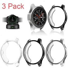 3 Pack For Samsung Galaxy Watch 46mm Case Soft TPU Screen Protector Bumper Cover