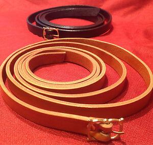 """3/4"""" Wide Slender Medieval Brass Buckle Belt SCA Faire Pirate Rennie Knight"""