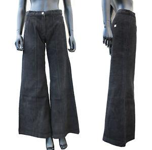 Ladies Girls Corduroy Cords Vintage Wide Leg 90s Baggy Skater Jeans Trousers Y2K