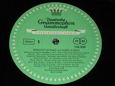 GISELA MAY Bertolt Brecht Songs / German LP 1969 DEUTSCHE GRAMMOPHON 144035