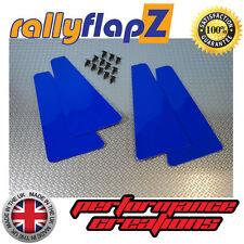 miniflapZ (set di 4) Universale 'Mini' Parafanghi / Paraspruzzi Blu 3mm PVC