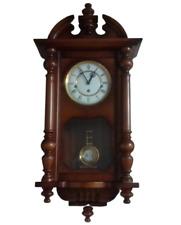 Orologio pendolo a parete KIENZLE con suoneria Westminster-Cassa in legno-Nuovo