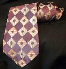 Vintage ARCO CRAVATS Diamond Jacquard Violet Tie 40s