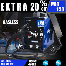 New listing 130A Mig Electric Welder Inverter Welding Machine 110V Ac Flux Core Wire Gasless