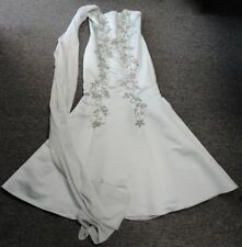 SCOTT MCCLINTOCK Blue Polyester Strapless Embellished Formal Dress Size 4 EE8220