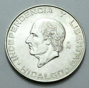1956 Mexico Hidalgo Independencia Cinco 5 Mo Pesos Ley.720 Silver World Coin