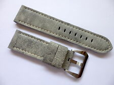 24mm Retro Grey Strap for your Panerai - 24/22mm Leather Watch Band in EU