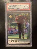 Tiger Woods 2001 Upper Deck RC #1 PSA 8