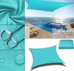 Sun Shade Sail Outdoor Garden Patio Sunscreen Waterproof Rectangle Heavy Duty