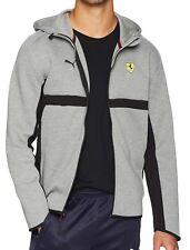 PUMA FERRARI SF Men's Casual Hooded Sweatshirt Jacket Hoodie Sweater Red Grey