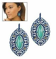Avon Blue Openwork Earrings Fashionable Chic Turquoise Jewelry Women's Fashion