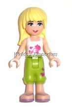 Lego Friends Minifig, STEPHANIE with Lime Trousers & White Top 3185, New