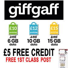 GiffGaff Giff Gaff Sim Card For Gps Tracker , Spy Device , House Alarm ,2G 3G 4G