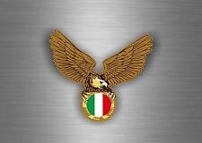 Autocollant sticker voiture moto drapeau italie italien aigle motard biker