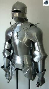 Knight Steel Battle Warrior Larp Armor Suit  Medieval Half Armor Costume Replica