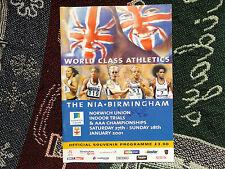 Athlétisme AAA Championnats Programme 2001-signé par Jamie Baulch et 2 autres