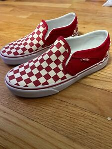 Vans Womens Size 7 red checkered Sneaker