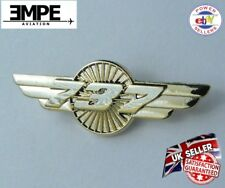 **NEW** Wings 737 Badge Pin Boeing Pilot B737 - Gold
