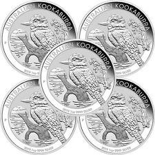 2019 P Australia Silver Kookaburra 1oz BU 5pc