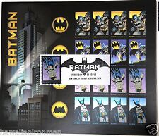 NYCC 2017 BATMAN FIRST DAY ISSUE HAND STAMPED ENVELOPE & SHEET OF POSTAGE STAMP2