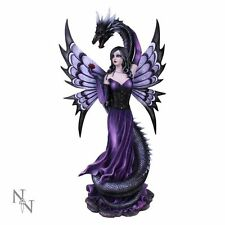 Guardian's Embrace Gothic Fairy & Dragon Figurine 60CM By Nemesis Now