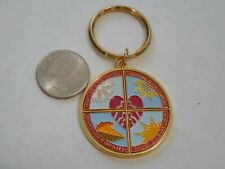 Metal Heartland Blood Centers Keychain